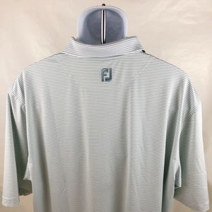 FootJoy Shirts - FJ FOOTJOY Polo Golf Shirt Short Sleeve Stripe